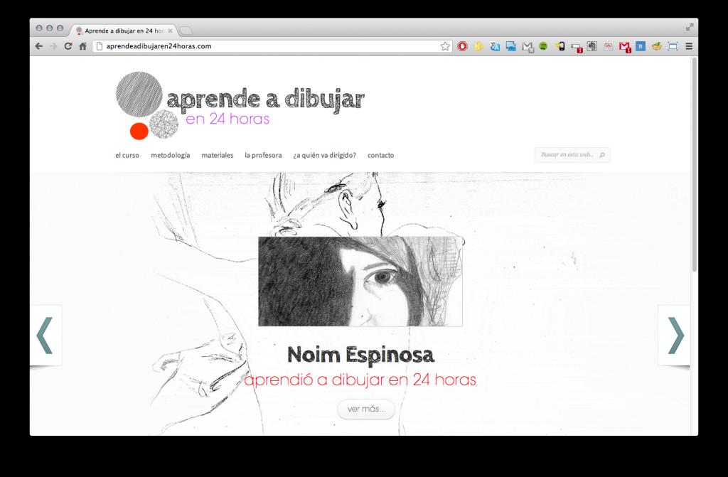 Diseño de Página de inicio de aprendeadibujaren24horas.com