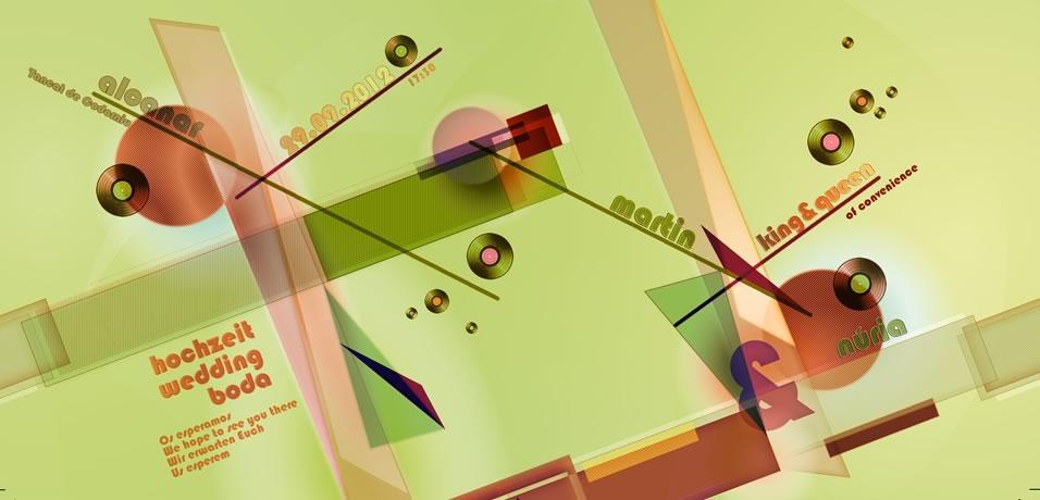 Imagen gráfica aplicada a la funda del single de vinilo