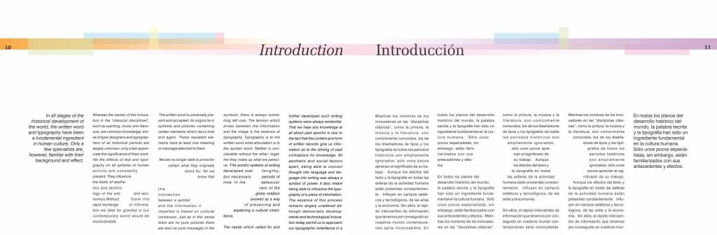 Maquetación de libro - doble página interior - Introducción