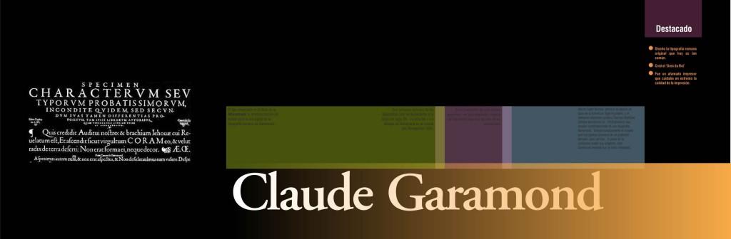 Maquetación de libro - Cubierta de capítulo - Claude Garamond