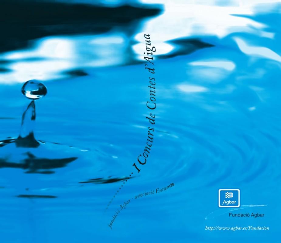 Diseño de la portada del libro del I Concurso de Cuentos de Agua