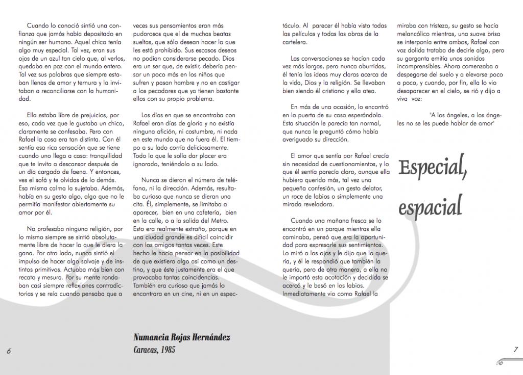 Maquetación revista Siwsiwez nº 1 (Página interior)