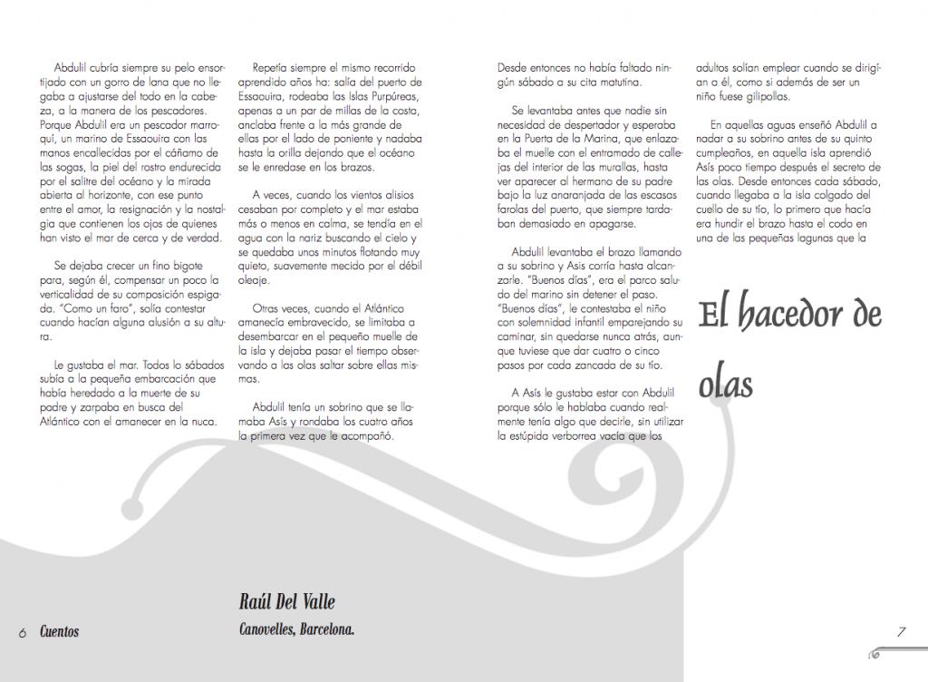 Maquetación de doble página interior de la revista Siwsiwez nº 2